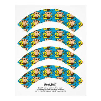 Envoltórios pequenos do cupcake do menino do papel de carta