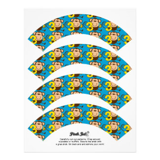 Envoltórios pequenos do cupcake do menino do papéis de carta personalizados