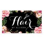 Envolvimento floral romântico do cabeleireiro do cartão de visita