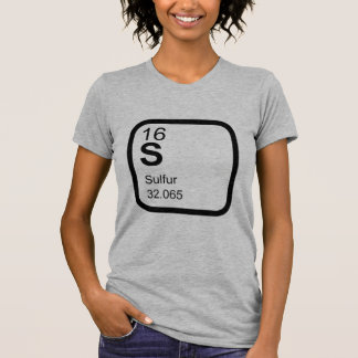 Enxofre - ciência T da mesa periódica! Camiseta
