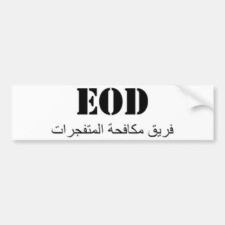 EOD (equipa de combate explosiva) Adesivo Para Carro