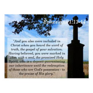 Ephesians 1 cartão de memória transversal da