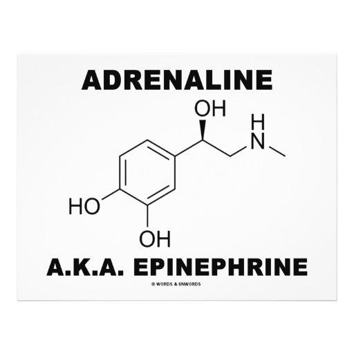 Epinefrina da adrenalina A.K.A. (química) Flyer 21.59 X 27.94cm