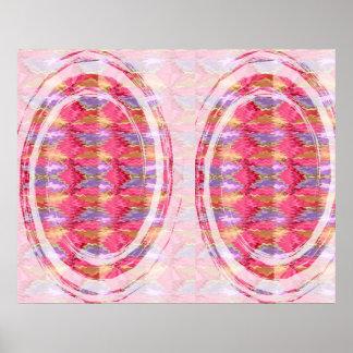Épocas felizes - ondas da arte da pétala cor-de-ro poster