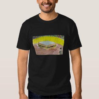 Épocas magras no t-shirt preto de Rumpton