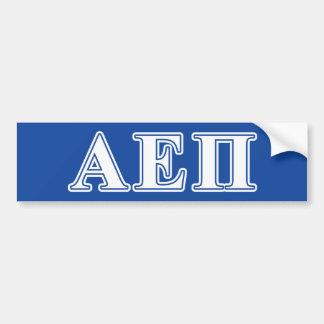 Épsilon alfa letras brancas e azuis do Pi Adesivo Para Carro