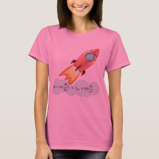 Equação da astronáutica camiseta
