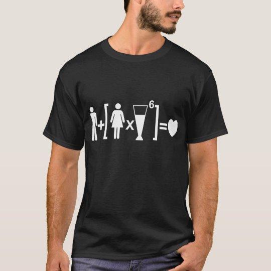 Equação do amor camiseta