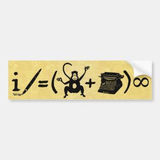 Equação engraçada da máquina de escrever do macaco adesivos