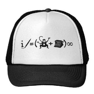 Equação engraçada da máquina de escrever do macaco boné
