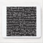 Equações da matemática do quadro-negro mouse pad
