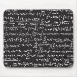 Equações da matemática do quadro-negro mousepad