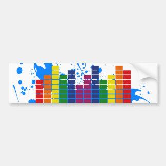 Equalizador do arco-íris de LGBT Adesivo Para Carro