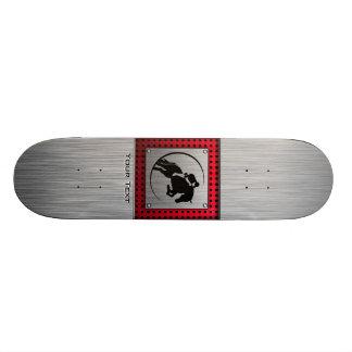 Equestrian. de alumínio escovado falso shape de skate 19,7cm