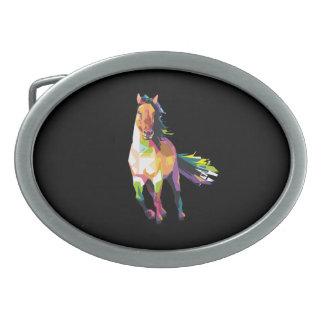 Equestrian Running colorido do garanhão do cavalo