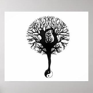 Equilíbrio da árvore da ioga pôster