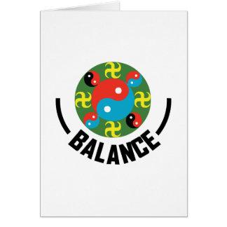 Equilíbrio de Yin Yang Cartão Comemorativo