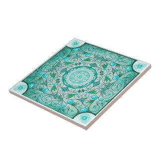 Equilíbrio do azulejo cerâmico da arte da mandala