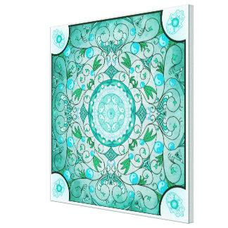 Equilíbrio do impressão cura das canvas da mandala