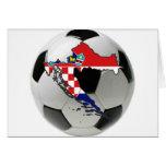 Equipa nacional de Croatia Cartão Comemorativo