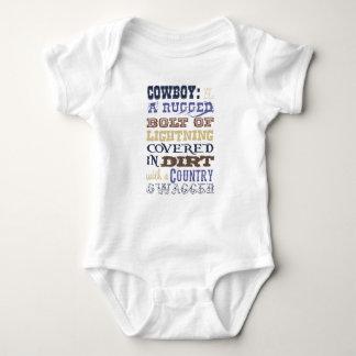 Equipamento da descrição do vaqueiro body para bebê