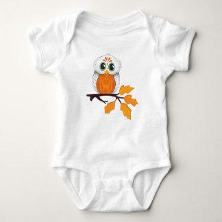 Equipamento do bebê da coruja body para bebê