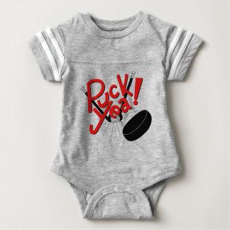 Equipamento engraçado do bebê do hóquei body para bebê