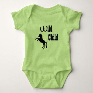 Equipamento temático do vaqueiro selvagem do bebê body para bebê