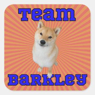 Equipe Barkley - etiquetas quadradas, lustrosas