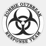 Equipe da resposta da manifestação do zombi (Bioha Adesivos Redondos