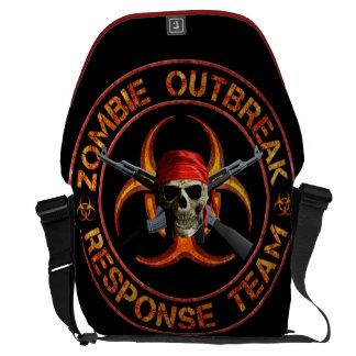 Equipe da resposta do zombi bolsas mensageiro