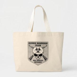Equipe da resposta do zombi: Divisão de Des Moines Sacola Tote Jumbo