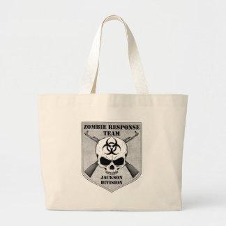 Equipe da resposta do zombi: Divisão de Jackson Sacola Tote Jumbo