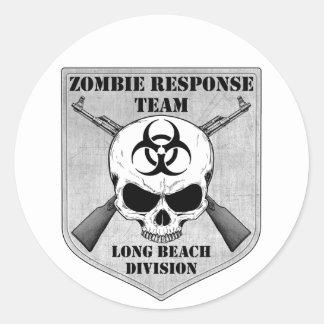 Equipe da resposta do zombi Divisão de Long Beach Adesivo Em Formato Redondo