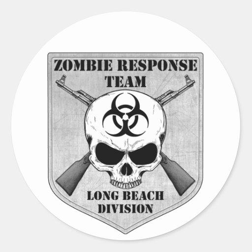 Equipe da resposta do zombi: Divisão de Long Beach Adesivo Em Formato Redondo