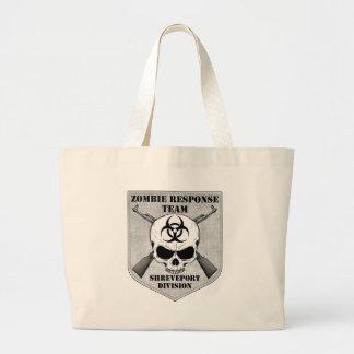 Equipe da resposta do zombi: Divisão de Shreveport Sacola Tote Jumbo