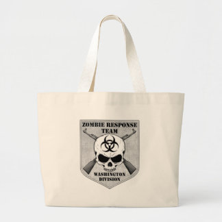 Equipe da resposta do zombi: Divisão de Washington Sacola Tote Jumbo