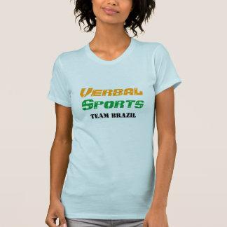 Equipe de esportes verbal Brasil Camisetas