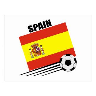 Equipe de futebol espanhola cartão postal