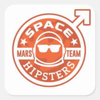 """EQUIPE de Hipsters® MARTE do espaço 3"""" etiquetas"""