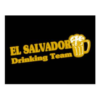 Equipe do bebendo de El Salvador Cartao Postal