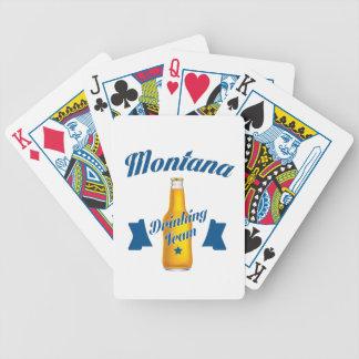 Equipe do bebendo de Montana Baralhos Para Poker