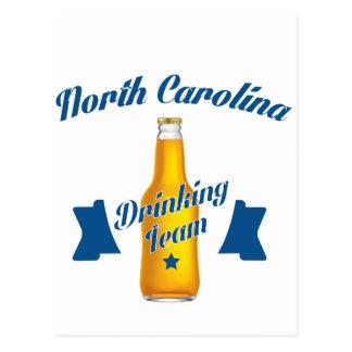 Equipe do bebendo de North Carolina Cartão Postal
