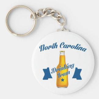 Equipe do bebendo de North Carolina Chaveiro