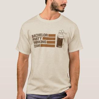 equipe do bebendo do despedida de solteiro camiseta