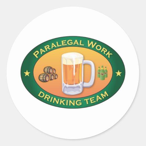 Equipe do bebendo do trabalho do Paralegal Adesivos
