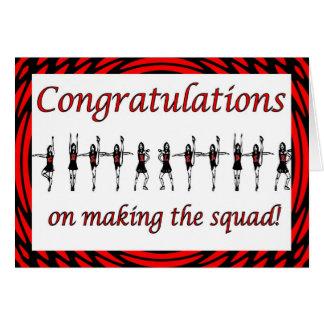 Equipe do elogio do pelotão do cheerleader dos cartão comemorativo