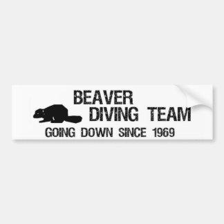 Equipe do mergulho do castor adesivos
