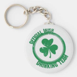 Equipe irlandesa do bebendo chaveiro