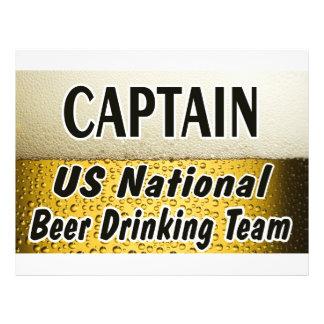 Equipe nacional do bebendo da cerveja dos E U Modelo De Panfleto